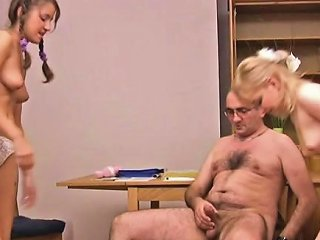 Babe Is Hungry For Teacher's Cock