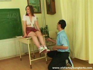 Alluring Schoolgirl Pleases Her Horny Teacher In Class