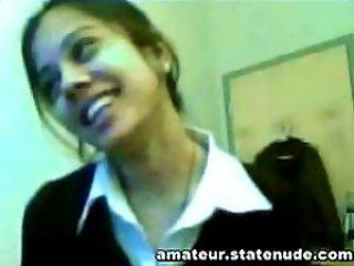 Insanely Hot Webcam Teen Sasha Stripping From Her School Uniform